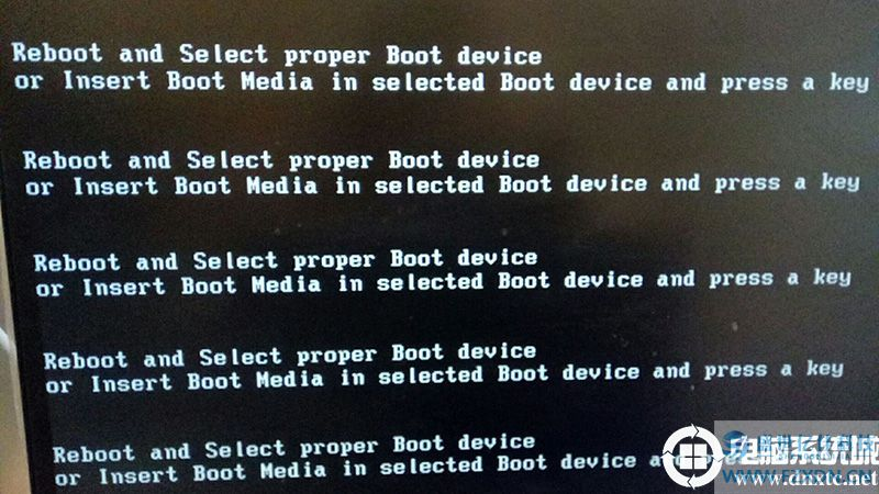 开机出现reboot and select proper boot device.jpg
